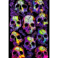 Opticz Wall of Skulls Blacklight Poster