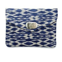 Printed Straw Envelope Clutch - Handbags - Lucky Brand Jeans