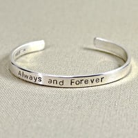 Always and forever massive sterling silver cuff bracelet