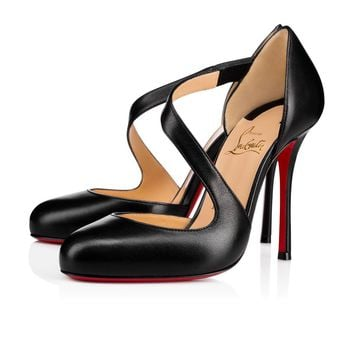 Christian Louboutin Cl Decalcoco Black Leather 18s Pumps 1180475bk01 -