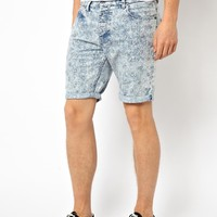ASOS | ASOS Denim Shorts With Embroidery at ASOS
