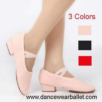 Canvas Practice Dance Shoes Teacher Teaching Dance Shoes Ballet Shoes With Heels