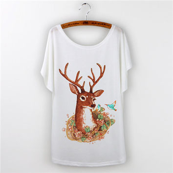 Cute Animal Print T Shirt Women best selling Top