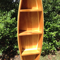 Handcrafted Canoe Shaped Boat Shelf