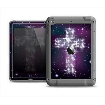 The Glowing Starry Cross Apple iPad Mini LifeProof Fre Case Skin Set