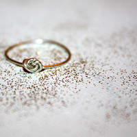 silver nodu - sterling silver knot ring by lilla stjarna - ft.  sterling silver  - gifts under 25 - Valentine's Day