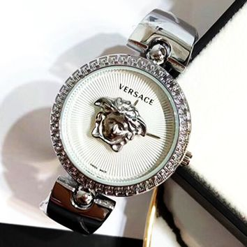 Versace tide brand women's simple personality wild quartz watch #2