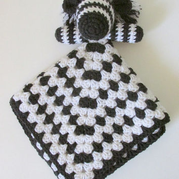 Zebra Lovey PDF Crochet Pattern - INSTANT DOWNLOAD