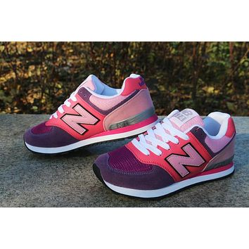 """New Balance"" Women Sport Casual Multicolor N Words Breathable Sneakers Running Shoes"