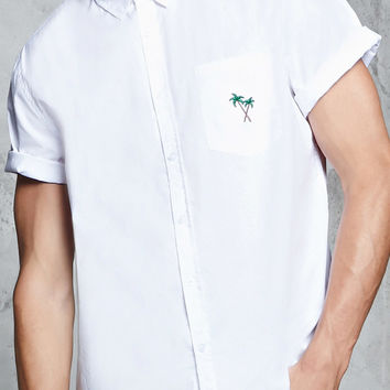 Slim-Fit Palm Tree Shirt
