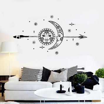 Vinyl Wall Decal Sun Moon Arrow Stars Room Interior Stickers Unique Gift (ig4285)