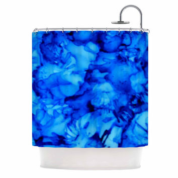 "Claire Day ""Blue"" Aqua Shower Curtain"