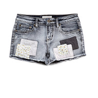 Patchwork Denim Shorts (Kids)