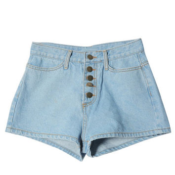 Denim shorts - Biko - Shorts - Pants & Shorts - Women - Modekungen