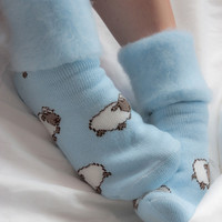 Socks by Sock Dreams » Seasonal Socks » Winter » New Zealand Sleepy Sheep Bedsock