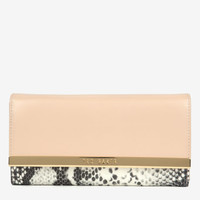 Large exotic leather wallet - Taupe | Wallets | Ted Baker