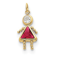10k July Girl Birthstone Charm 10XCK168