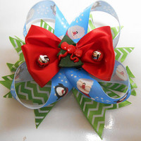 Christmas Boutique Stacked Pinwheel hair bow