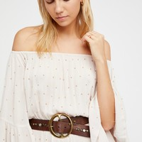 Free People Hold On Tight Embellished Top