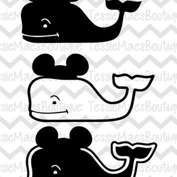 Mickey Whale SVG, DXF, EPS, Png, Instant Download, Cutting File, TessieMaes, Mickey Mouse, Disney
