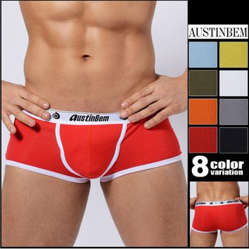 Boxer Swimsuit Soft Cotton Men's Sexy Briefs trunks swimsuit plus size swimwear swimming trunks for boy male swimwear