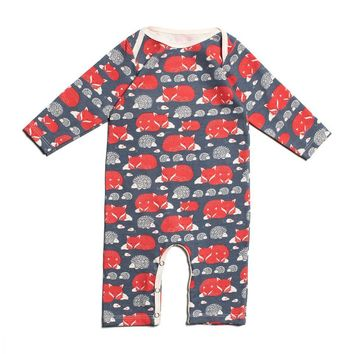 Foxes & Hedgehogs - Organic Jumpsuit by Winter Water Factory