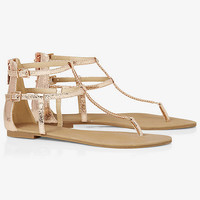 CHAIN T-STRAP SANDAL from EXPRESS