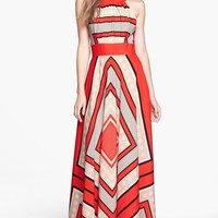 Women's Eliza J Scarf Print Woven Maxi Dress,