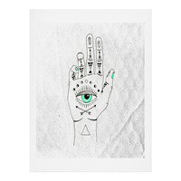 Wesley Bird Eye See Hamsa Art Print