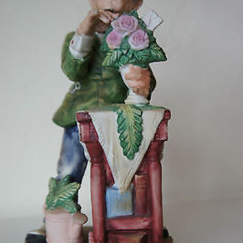 "Rare Lefton China ""Florist"" Figurine No. KW7449 1950's Hand Painted Made Japan"