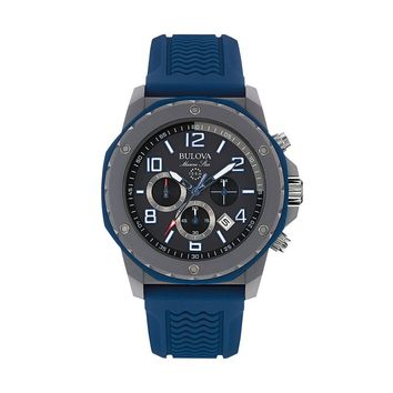 Bulova Men's Marine Star Chronograph Watch - 98B246 (Blue)