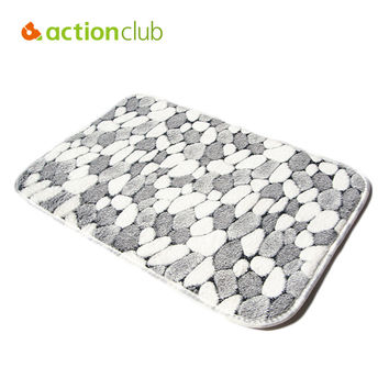 PVC Mesh Coral Fleece Floor Mats Bathroom Ground Mat Fashion Pattern Water Bath Rugs And Mats Anti Slip Anti-Bacteria RugsHH1655