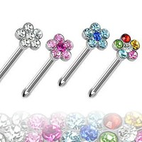Flower Nose Stud Ring