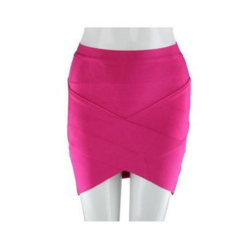 2015 New black yellow blue red beige V bottom sexy lady evening party fashion mini pencil bandage skirt