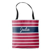 Customizable Patriotic Red White and Blue Tote Bag