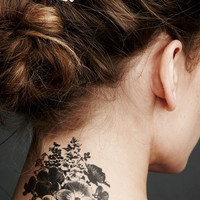 Large floral arrangement temporary tattoo