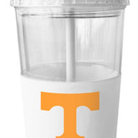 NCAA Tennessee Volunteers 22 Ounce Insulated Tumbler With Rubber Sleeve And Stir Straw