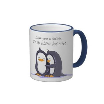 Love You Penguins Coffee Mugs from Zazzle.com