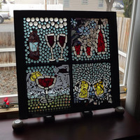 Mosaic Window Cheers