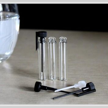 Free Shipping 50/Lot 2 ml Small Glass Perfume Bottle, 2 CC Mini Tester Glass Perfume Vials