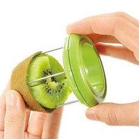 ABS + Stainless Steel 2 in1 Fruit Peelers Kiwi Peelers & Zesters Cutter Kitchen Accessories Gadgets the Goods for Kitchen