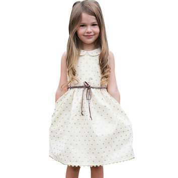 Toddler Kids Baby Girls Princess Dress Party Pageant Wedding Dresses With Waistband SM6