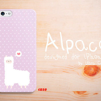 iPhone 4 Case, cute alpaca iPhone 5S Hard Case, purple iphone 5C Cover with iPhone 5 hard case.Case for iPhone 4 / 4S / 5 / 5S / 5C