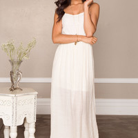 My Dear Maxi Dress - Ivory