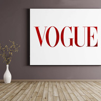 VOGUE PRINT,Red Lips,Vogue,Wall Decor,Vogue Fashion,Wall Art,Vogue Red Print,Vogue Lips Poster,Vogue Print,Fashionista,Vogue Poster,Brand