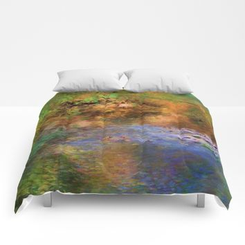 Fantasy Lake Stream Comforters by Theresa Campbell D'August Art