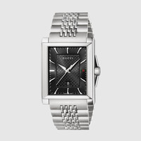 g-timeless medium stainless steel rectangle watch 361113I16001402