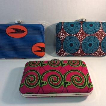 AFRICAN PRINT DESIGNED CLUTCH BAGS