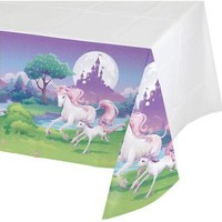 Unicorn Fantasy Plastic Table Cover (Each) - Party Supplies