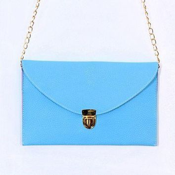 *Envelope Style Clutch Purse Pocketbook Bag with Strap
